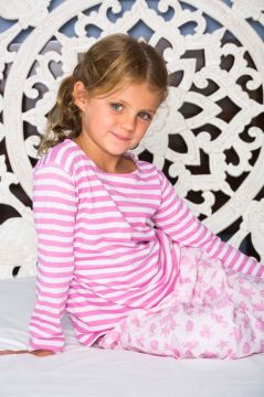 Ocean Pink Striped T-Shirt Pyjama