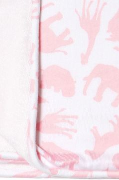 Safari Pink Towelling Blanket