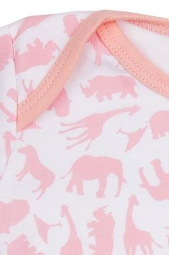 Safari Pink Baby Vest