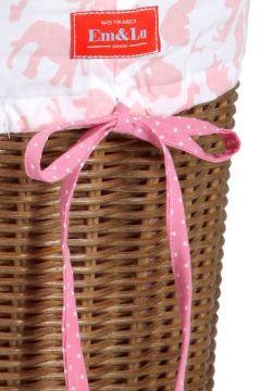 Safari Pink Laundry Basket