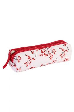 Red Blossom Pencil Case