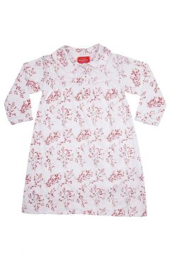 Red Blossom Long Sleeve Nightie