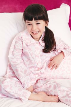 Safari Pink Frill Collar Pyjama