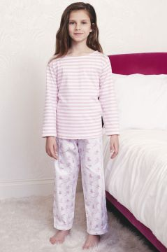 Skiing Pink Striped T-Shirt Pyjama