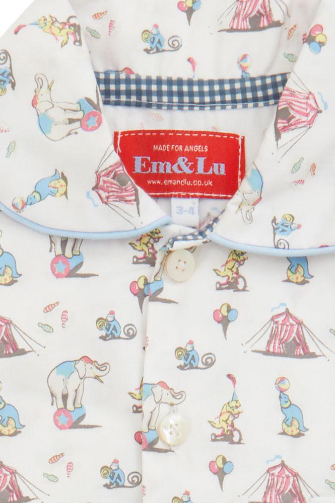 Circus Classic Children S Pyjamas Em Amp Lu Designs Em Amp Lu