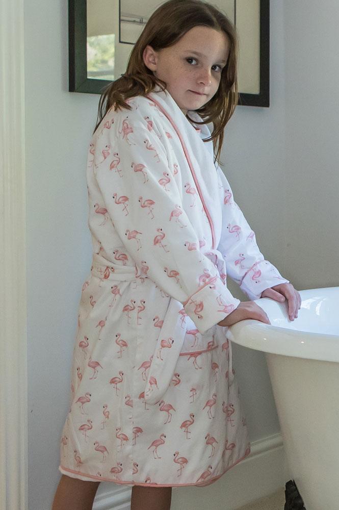 Winter Horse Blankets >> Flamingo Dressing Gown | Em&Lu