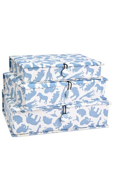 Safari Blue Fabric Box Set Em Amp Lu Designs Em Amp Lu