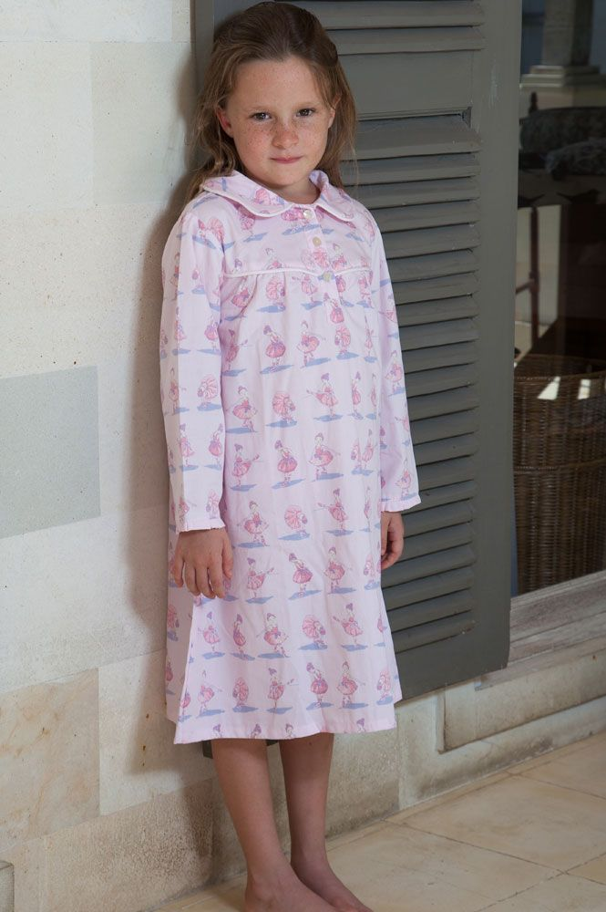 Ballerina Pink Long Sleeve Nightie Nightdresses Girls