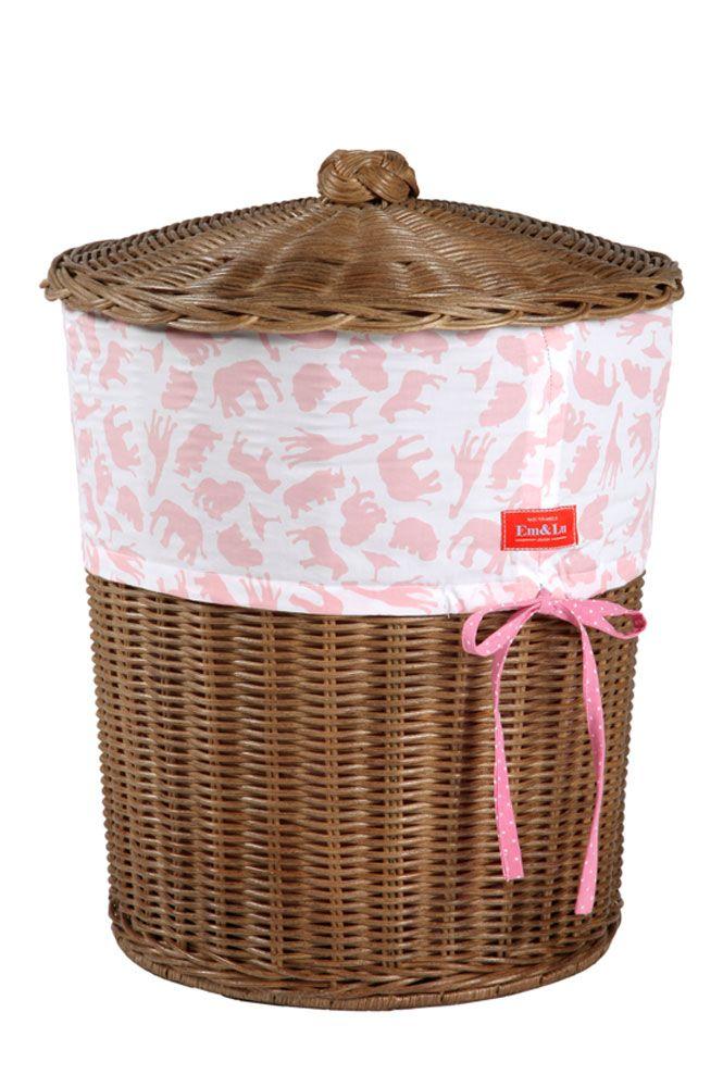 Safari Pink Laundry Basket Bathroom Home Em Amp Lu Em Amp Lu