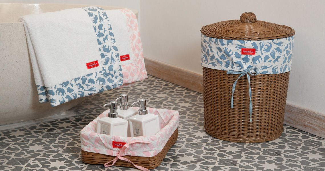 Towells, Baskets & Laundry - Em & Lu